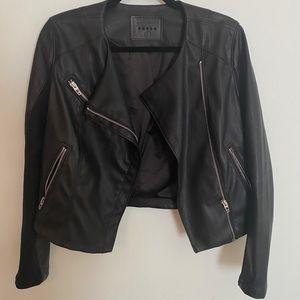 BLANKNYC Faux Leather Black Jacket